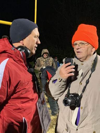 with mark peach after highlands. my last football game
