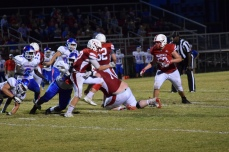 Zach Labhart tries to get away from a Madison Central tackler.