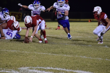 Zach Shouse picks up a fumble, but the officials ruled the play dead.
