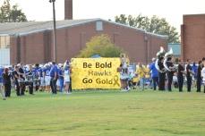 LaRue County, a Class 3A team, waits to take the field.