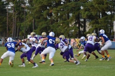 Campbellsville quarterback Arren Hash looks for a receiver.