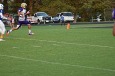 Campbellsville receiver Mikael Vaught crosses the goal line for a score.
