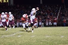 Sam Elliott gets the pass off before Anderson's Darian Dearinger could reach him.