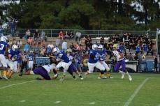 LaRue quarterback Connor Baker (2) scrambles.