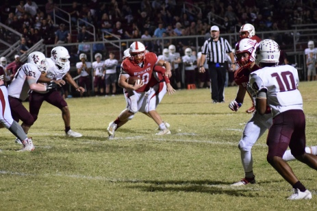 Anderson County's Zach Labhart eyes the goal line.