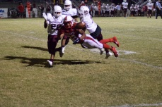 The ball falls away as Anderson turned the ball over on downs late in the third quarter.