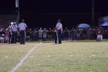 On a controversial interception by Anderson's Jagger Gillis, the officials spent considerable time discussing what th right call would be. Henderson was called for offensive pass interference, but Anderson declined. Henderson was also flagged for unsportsmanlike conduct after the play was over.