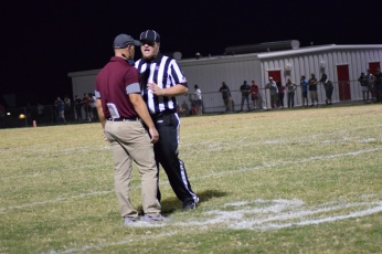 A game official explains the ruling on a disputed interception in the fourth quarter.