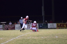 Anderson County kicker Gabe Clark adds the final point of the game.