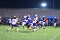 LaRue's Tyrell Coulter struggles for yardage.