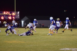 Campbellsville's Gideon Richards tries to pick up yardage in the open field.