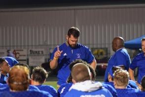 LaRue coach Josh Jaggers talks with his team.